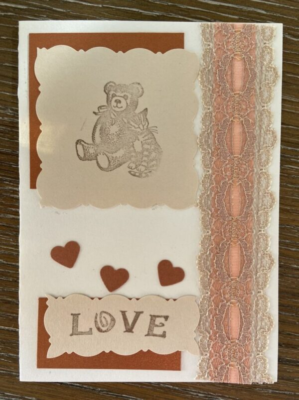 Notecard - Hearts & Lace