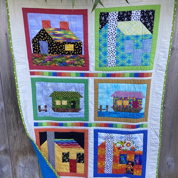 Children's Quilt - Houses